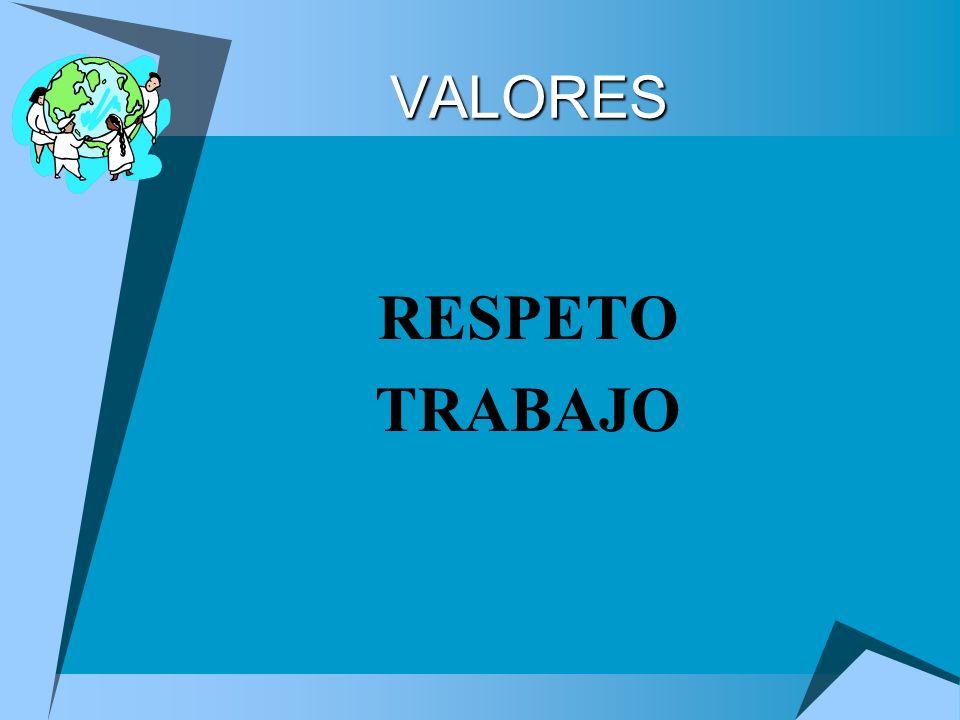 VALORES RESPETO TRABAJO