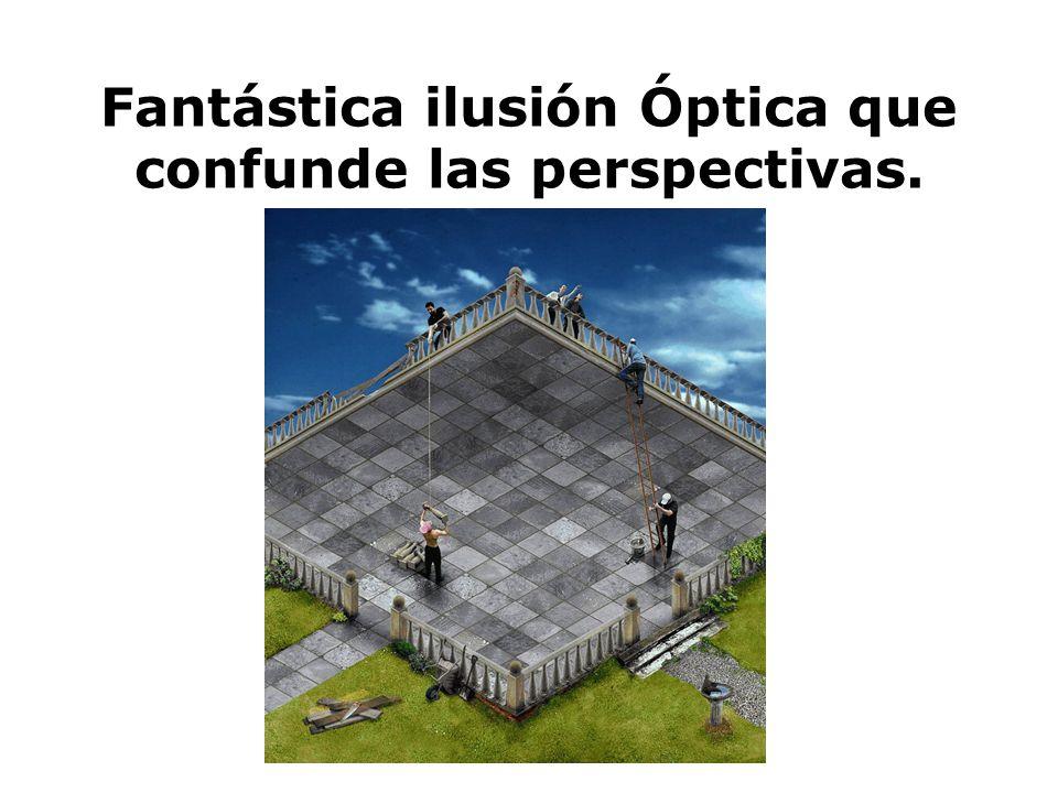 Fantástica ilusión Óptica que confunde las perspectivas.