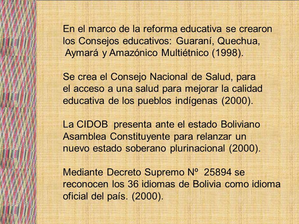 En el marco de la reforma educativa se crearon