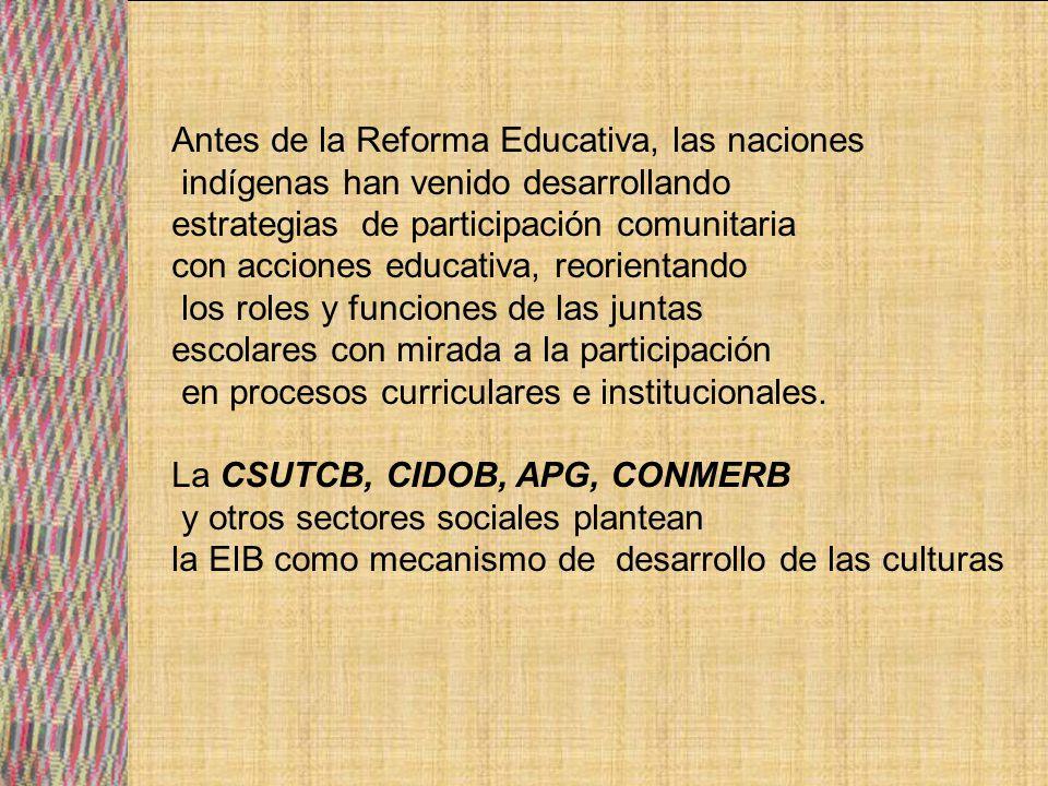 Antes de la Reforma Educativa, las naciones