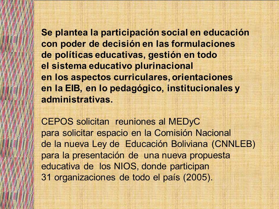 Se plantea la participación social en educación