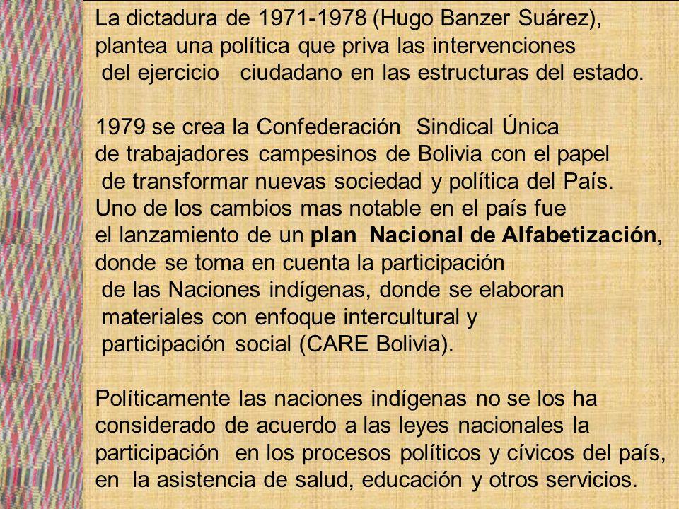 La dictadura de 1971-1978 (Hugo Banzer Suárez),