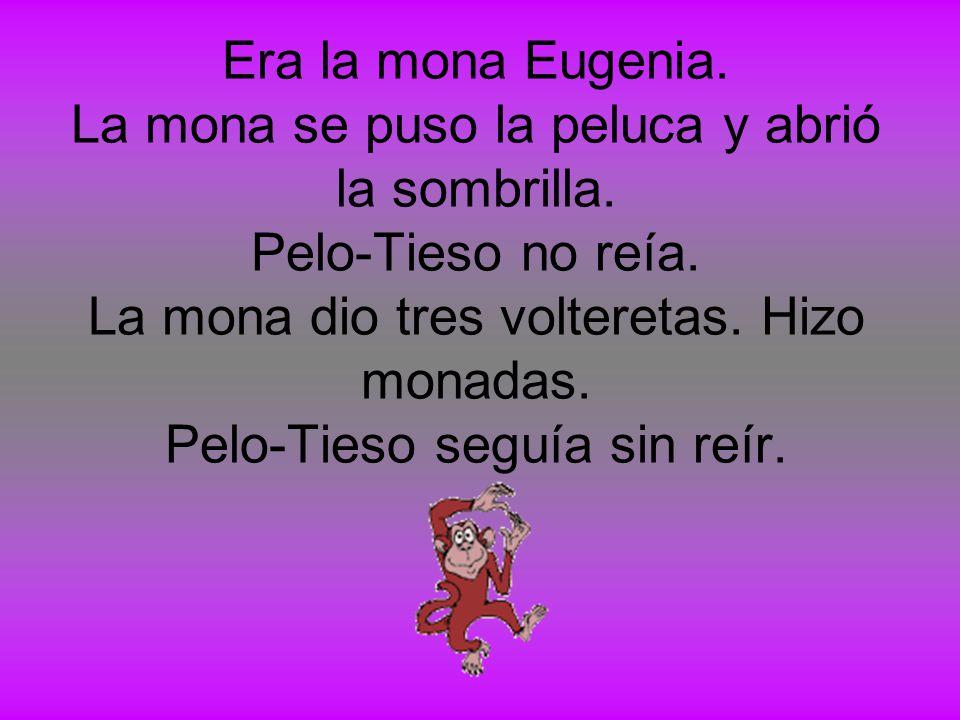 Era la mona Eugenia. La mona se puso la peluca y abrió la sombrilla