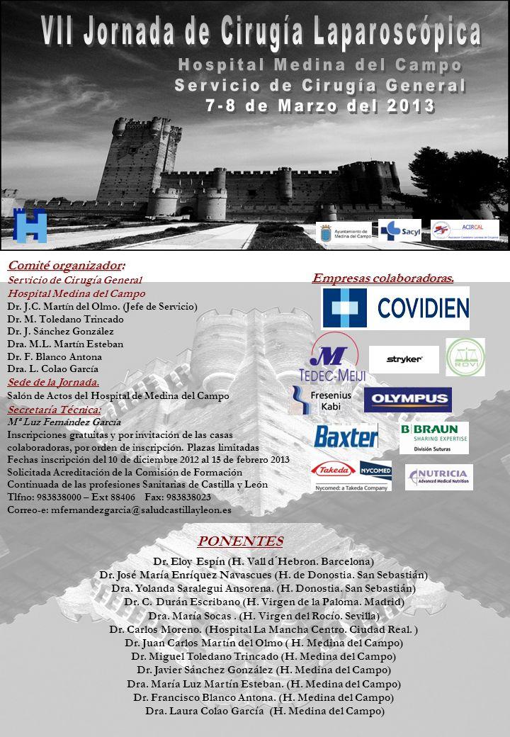 VII Jornada de Cirugía Laparoscópica Hospital Medina del Campo