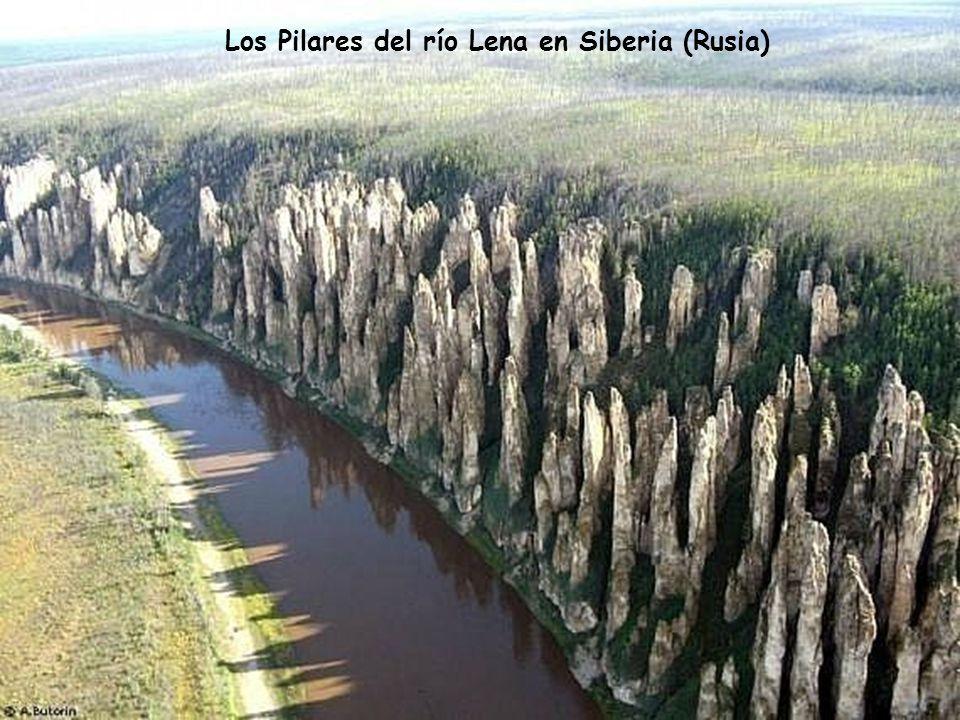Los Pilares del río Lena en Siberia (Rusia)