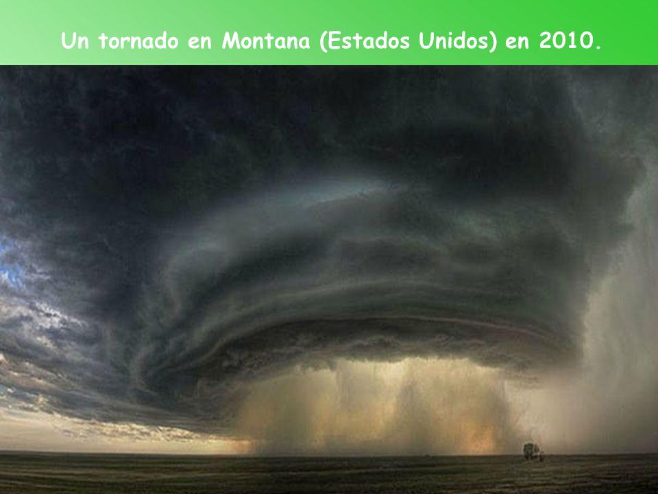 Un tornado en Montana (Estados Unidos) en 2010.