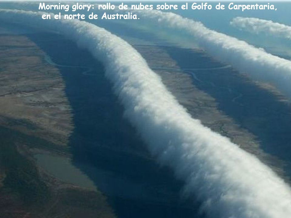 Morning glory: rollo de nubes sobre el Golfo de Carpentaria,