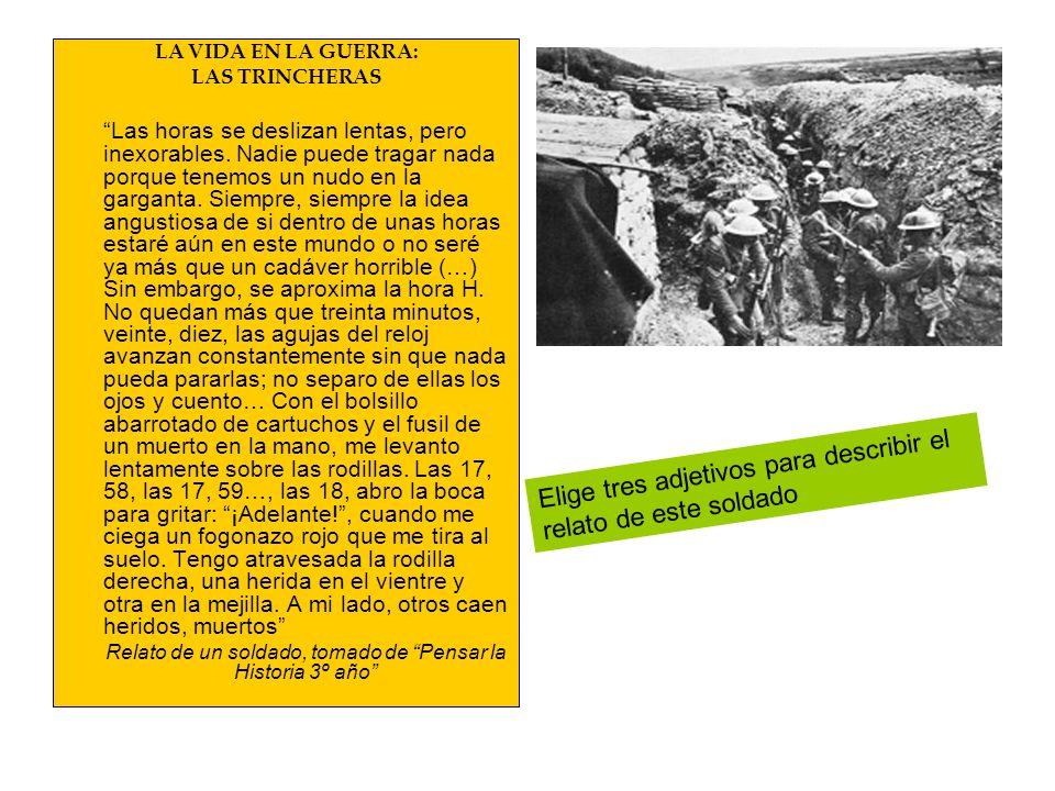 Relato de un soldado, tomado de Pensar la Historia 3º año
