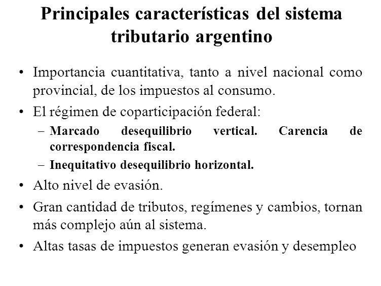 Principales características del sistema tributario argentino