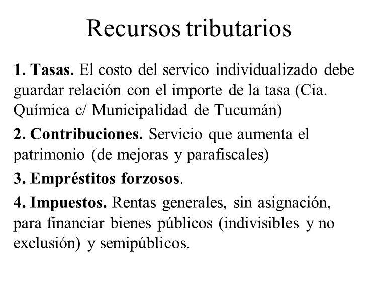 Recursos tributarios