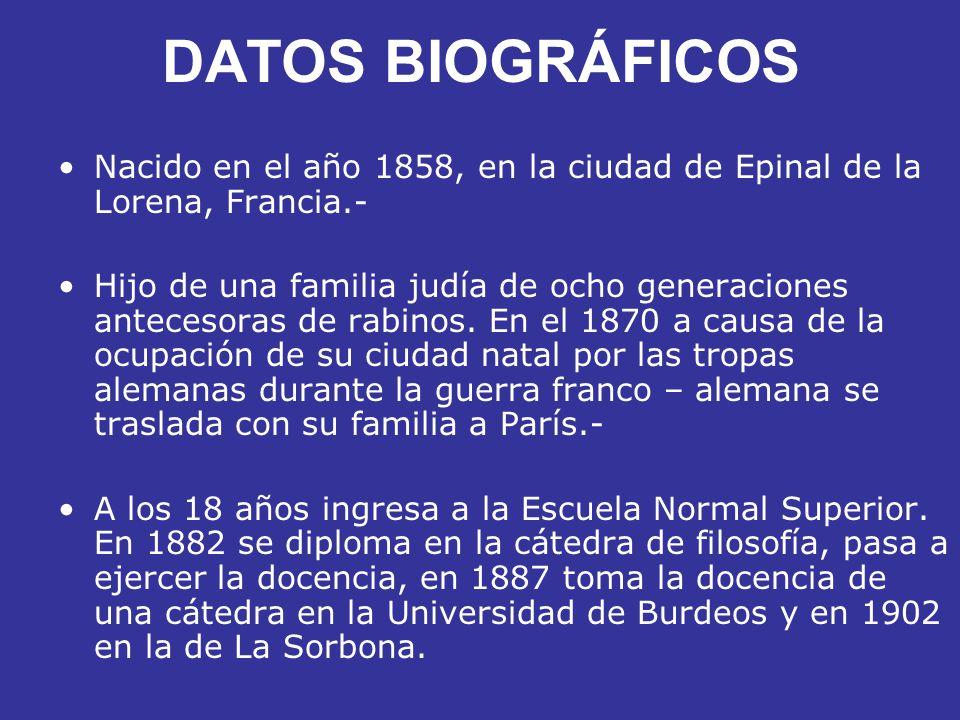 DATOS BIOGRÁFICOS Nacido en el año 1858, en la ciudad de Epinal de la Lorena, Francia.-