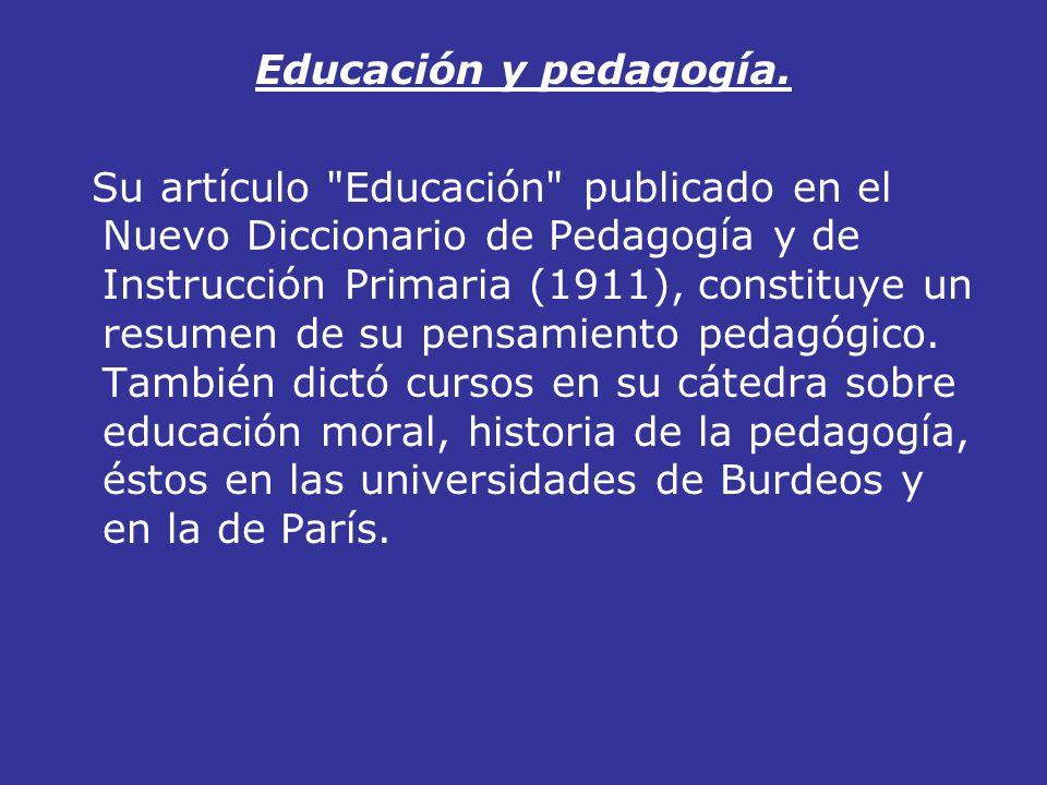 Educación y pedagogía.