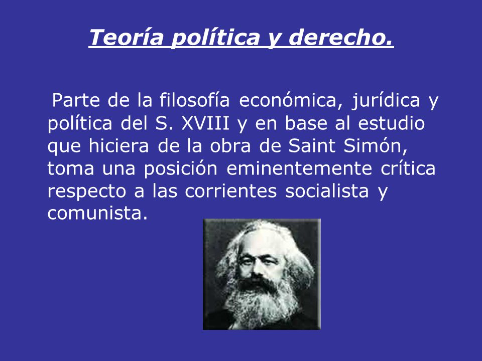 Teoría política y derecho.