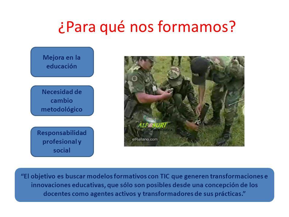 Necesidad de cambio metodológico Responsabilidad profesional y social