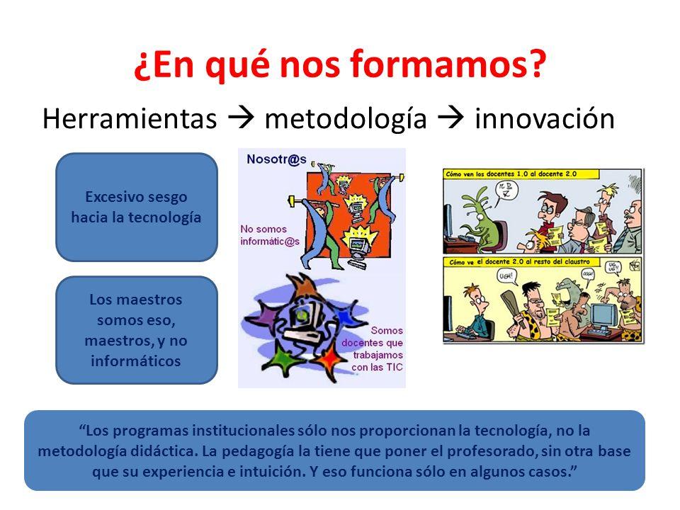 ¿En qué nos formamos Herramientas  metodología  innovación