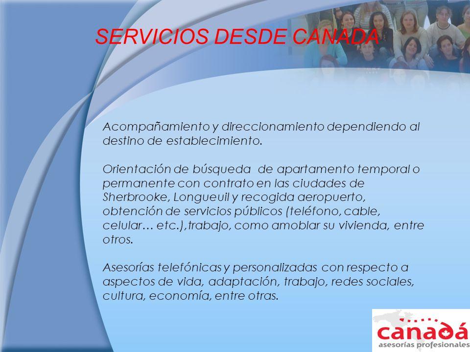 SERVICIOS DESDE CANADA