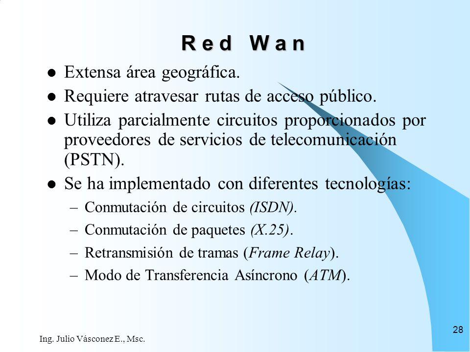 R e d W a n Extensa área geográfica.