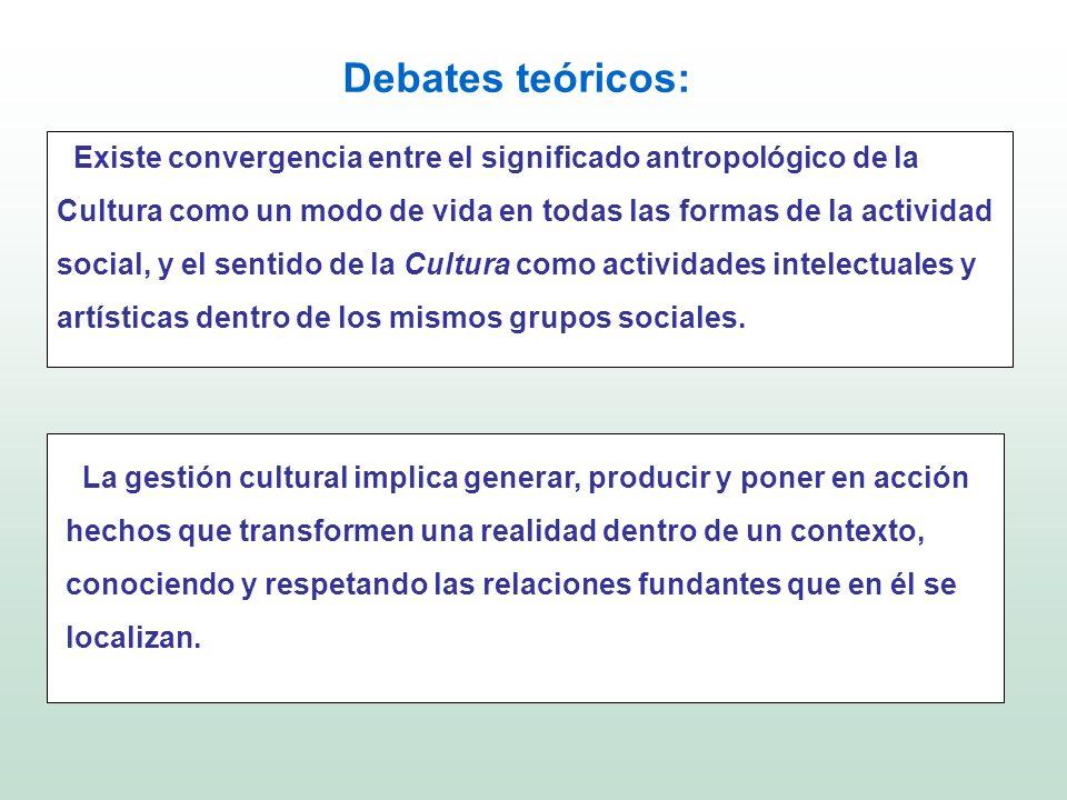 Debates teóricos: