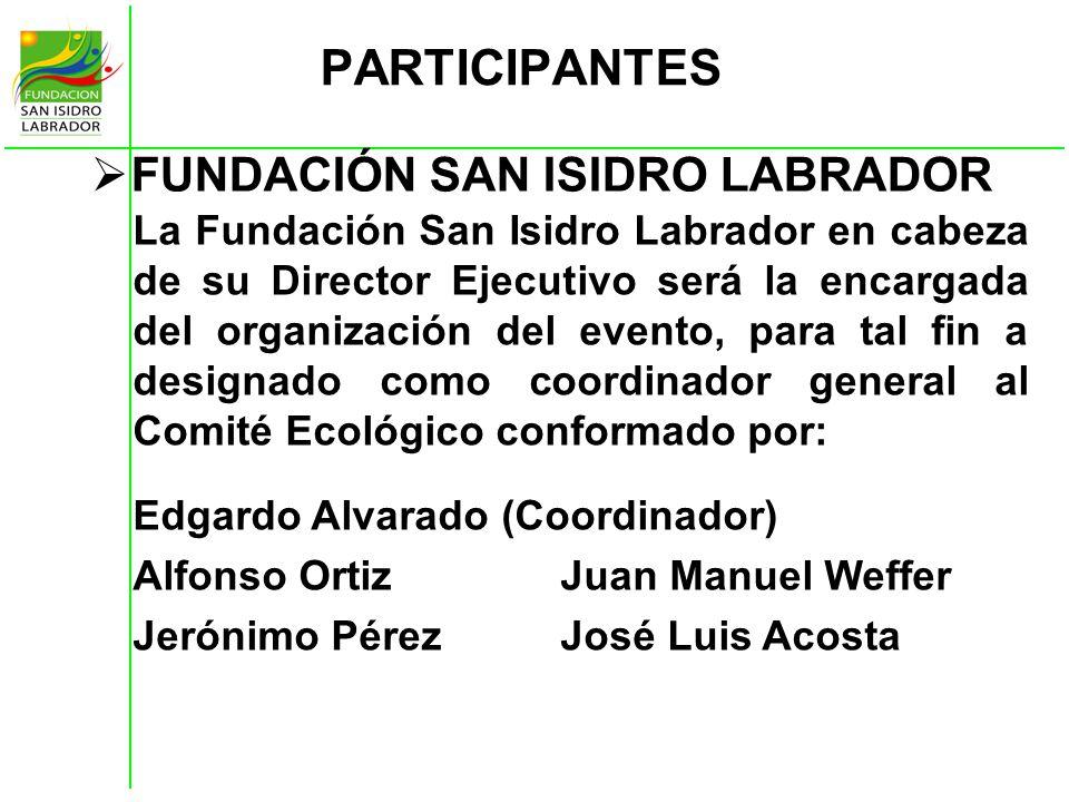 PARTICIPANTES FUNDACIÓN SAN ISIDRO LABRADOR