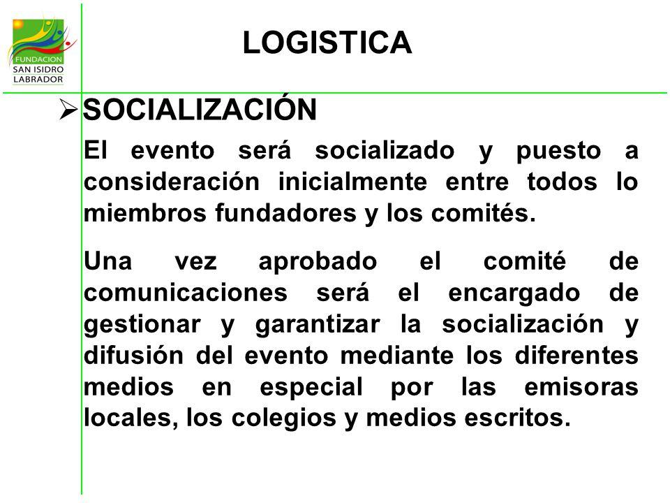 LOGISTICA SOCIALIZACIÓN