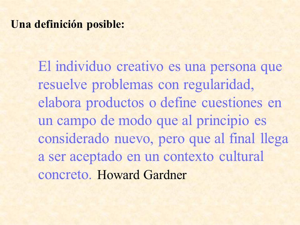 Una definición posible: