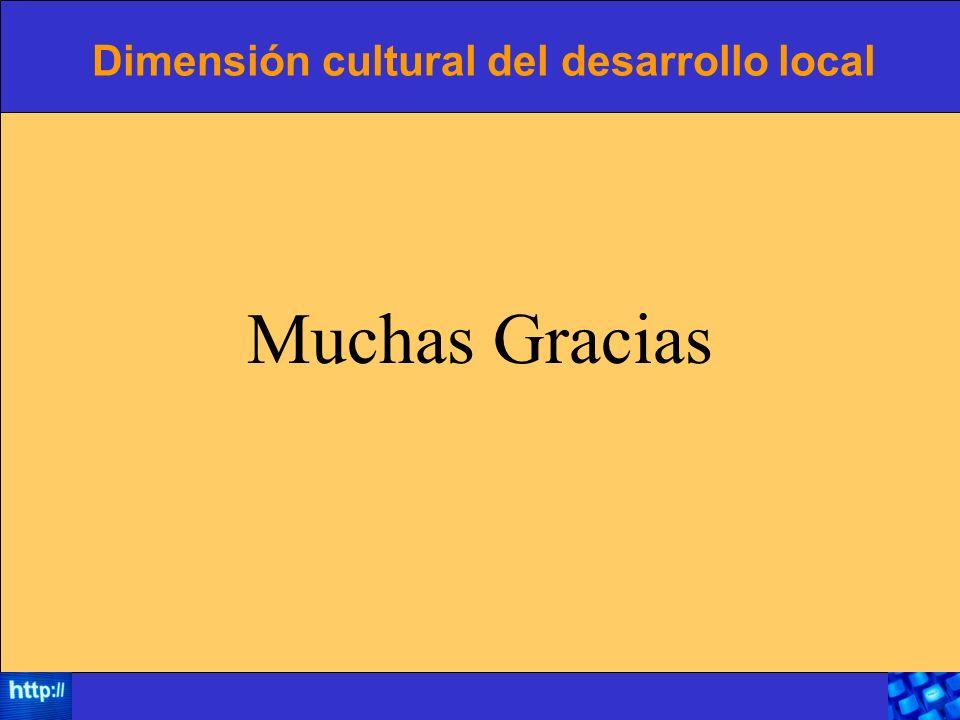 Dimensión cultural del desarrollo local