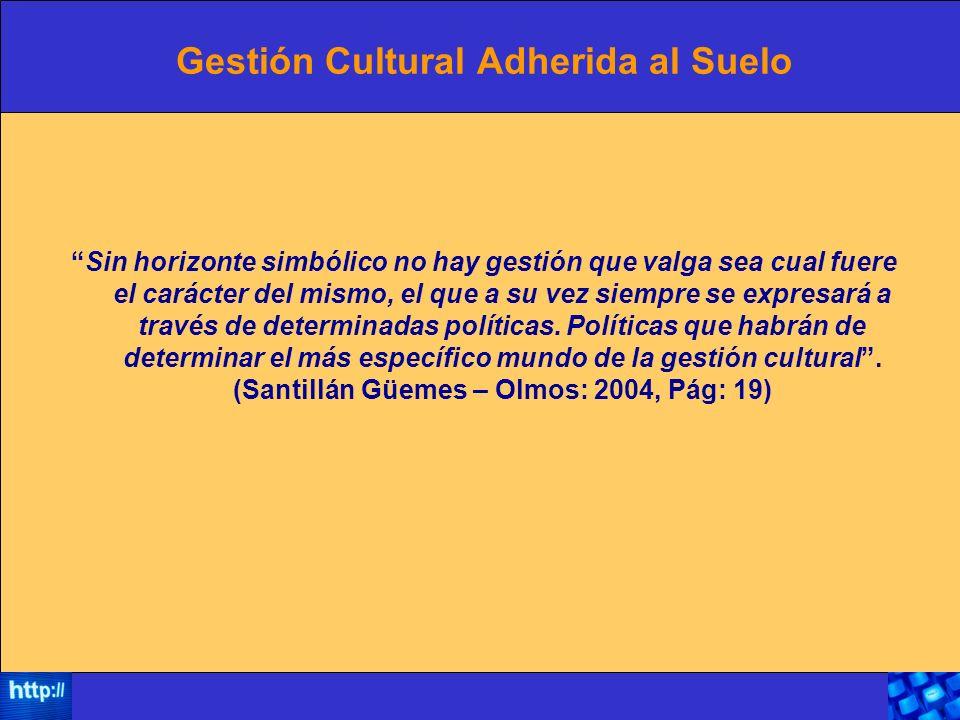 Gestión Cultural Adherida al Suelo