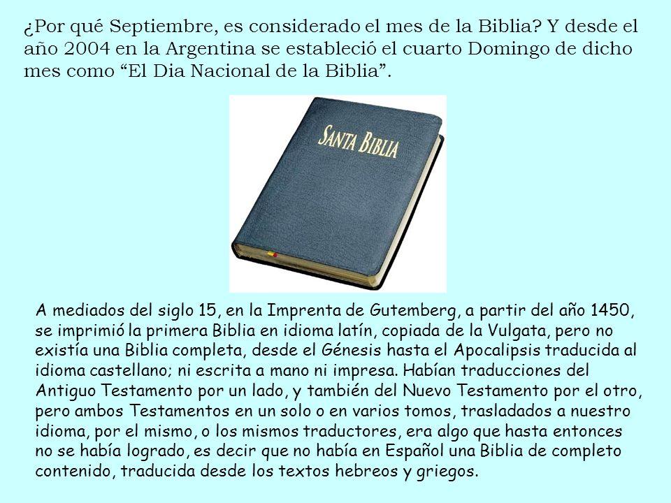 ¿Por qué Septiembre, es considerado el mes de la Biblia