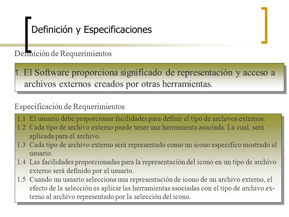 Definición y Especificaciones