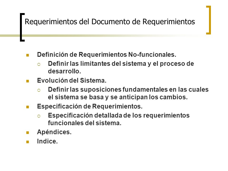 Requerimientos del Documento de Requerimientos