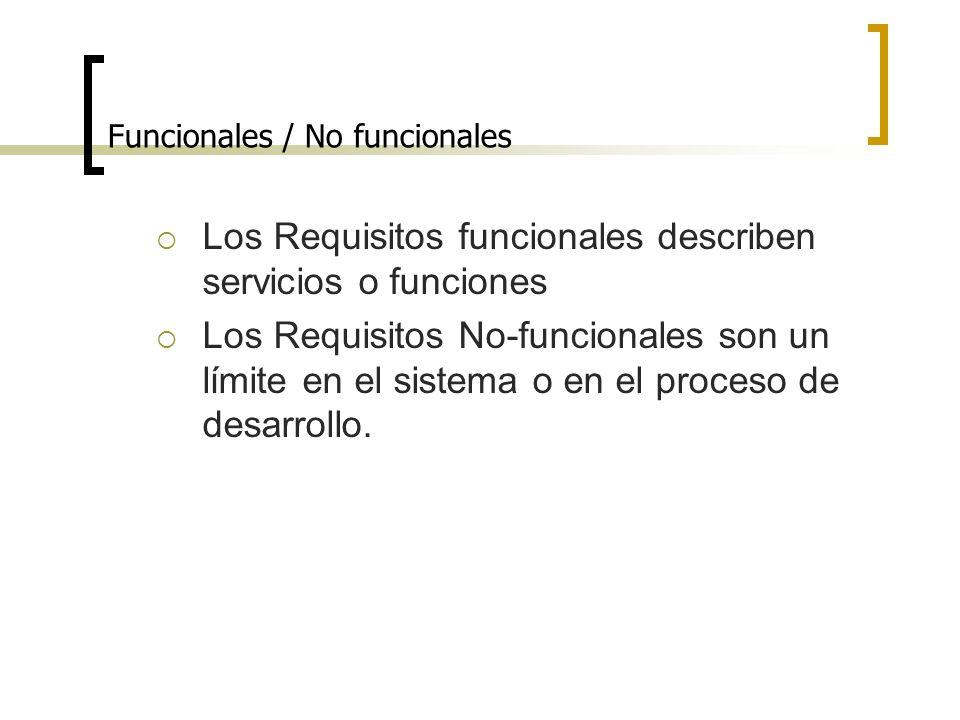 Funcionales / No funcionales