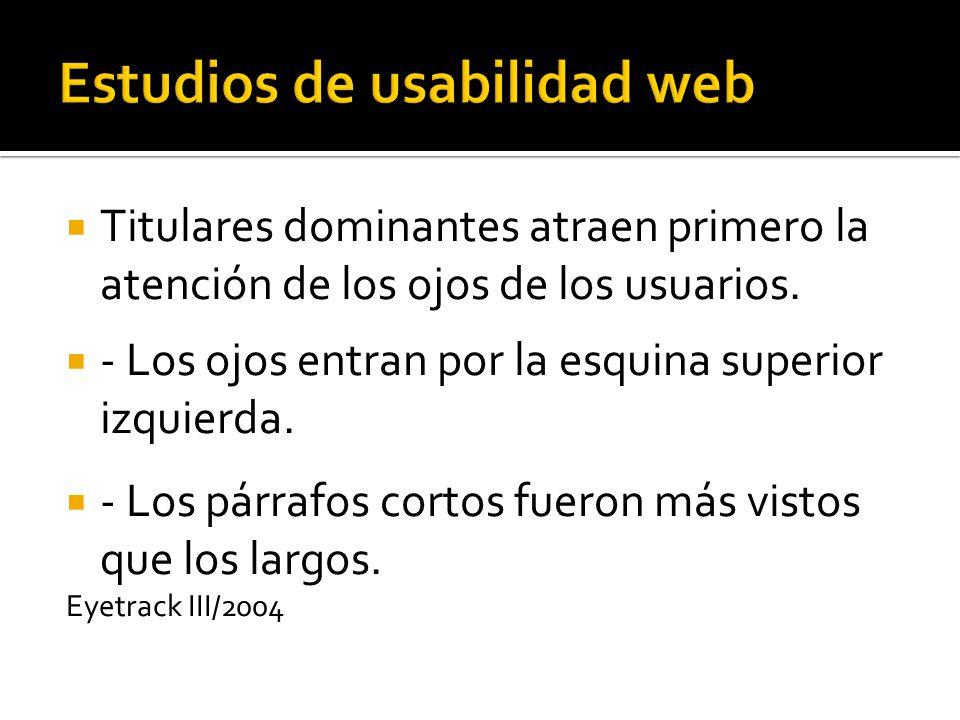 Estudios de usabilidad web