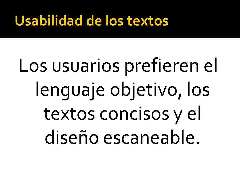 Usabilidad de los textos