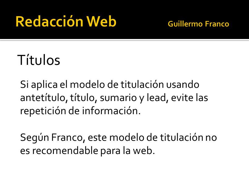 Redacción Web Guillermo Franco