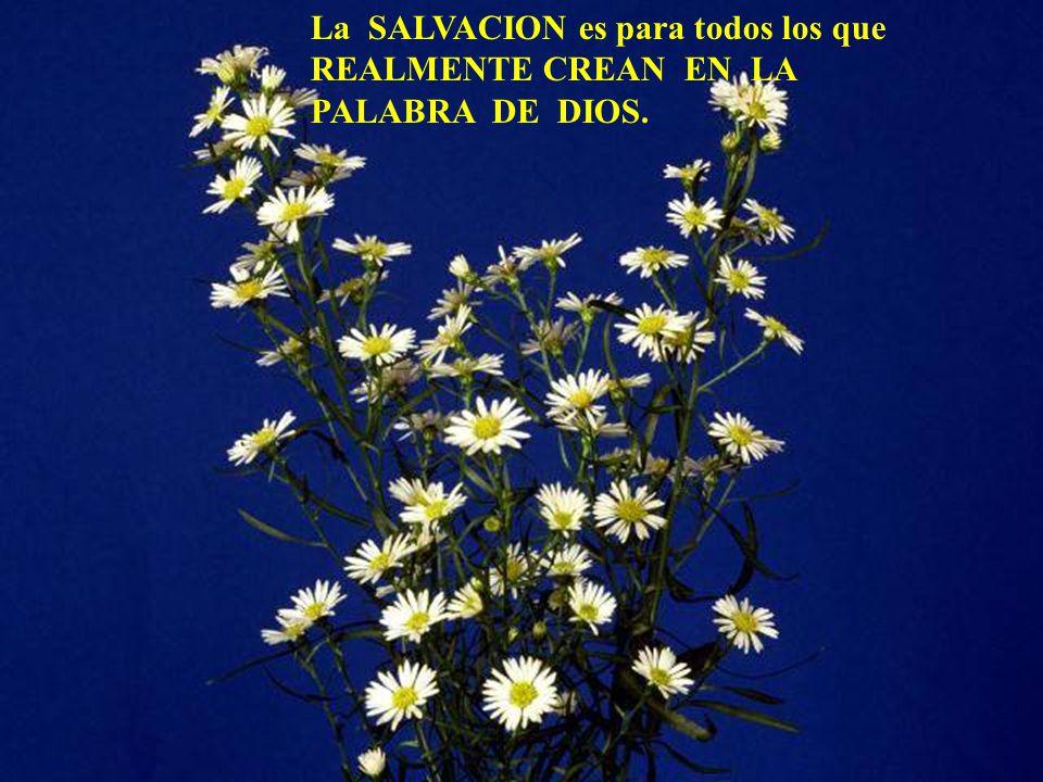 La SALVACION es para todos los que