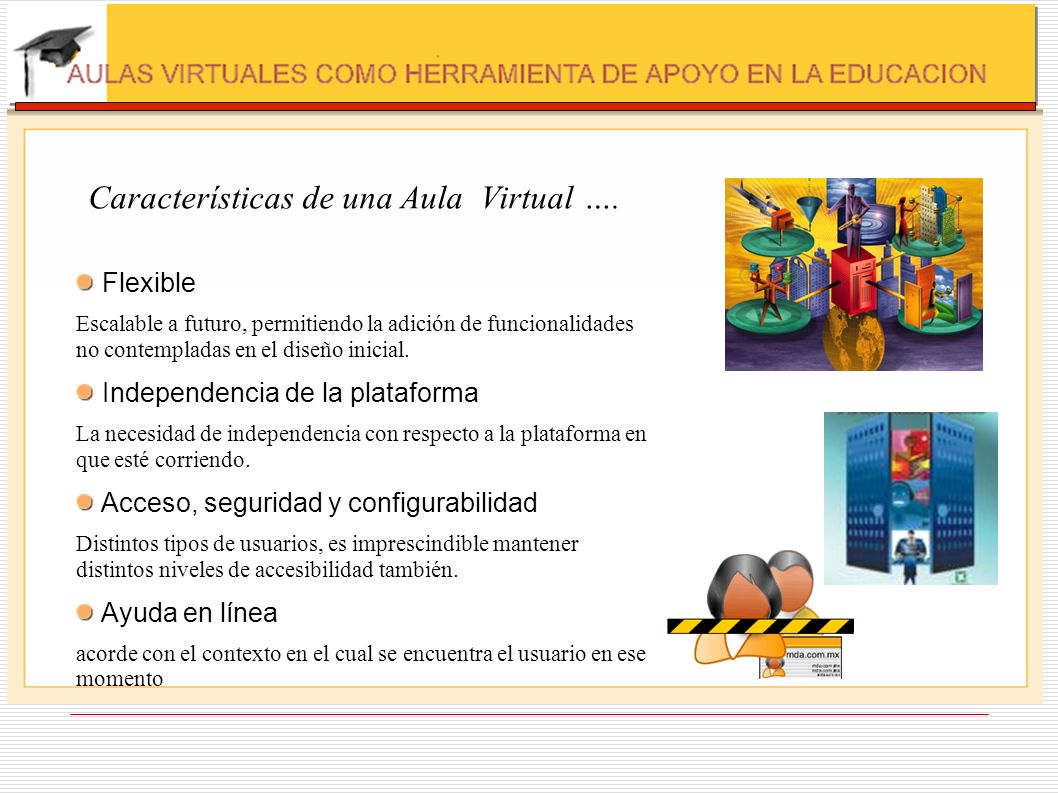 Características de una Aula Virtual ….