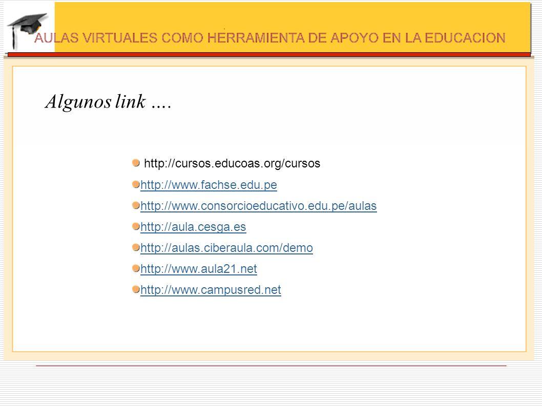 Algunos link …. http://cursos.educoas.org/cursos