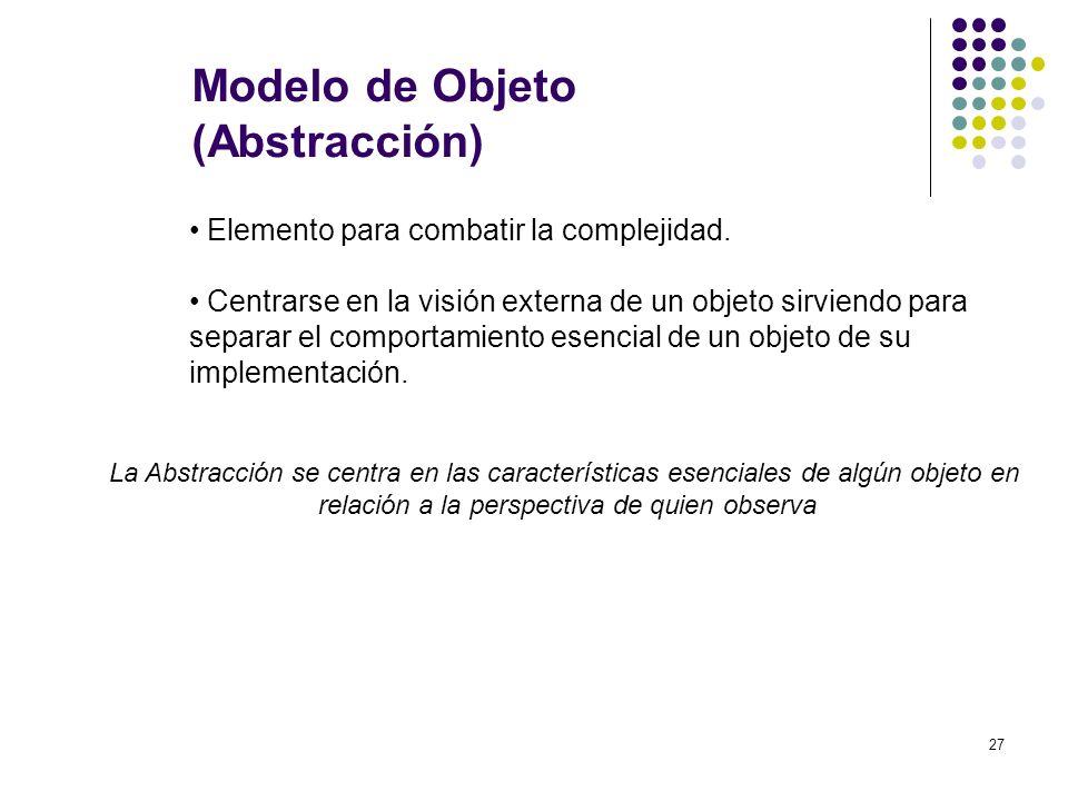 Modelo de Objeto (Abstracción)