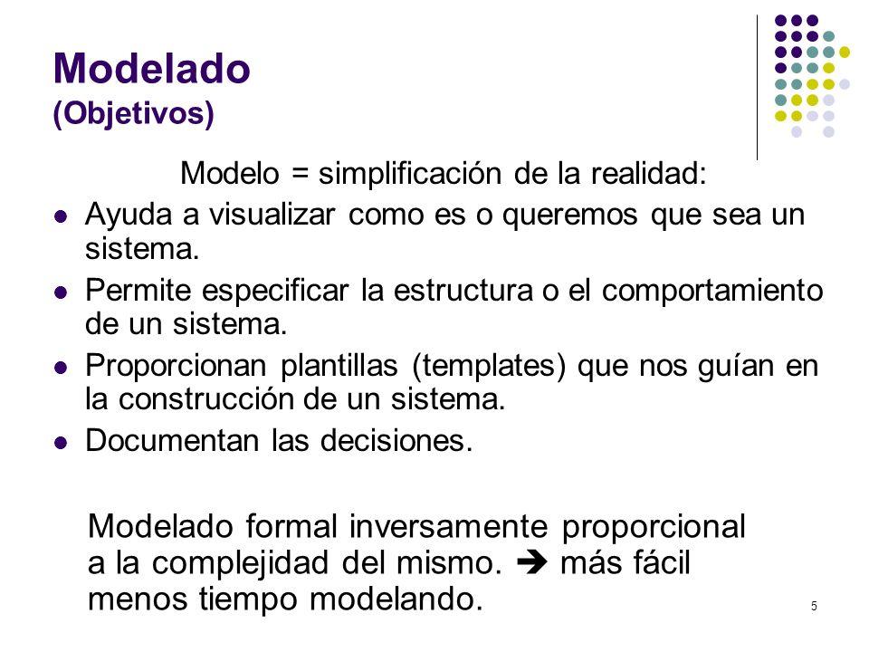 Modelo = simplificación de la realidad: