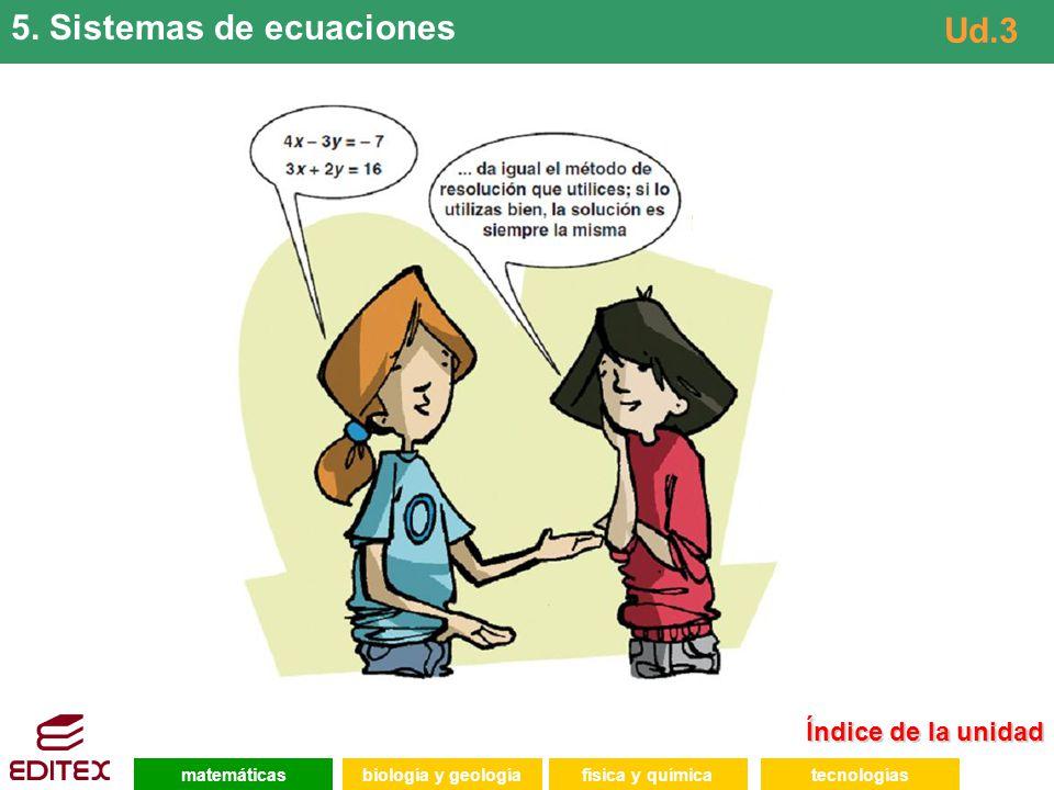 5. Sistemas de ecuaciones Ud.3