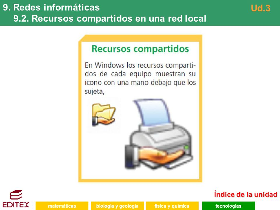 9.2. Recursos compartidos en una red local Ud.3