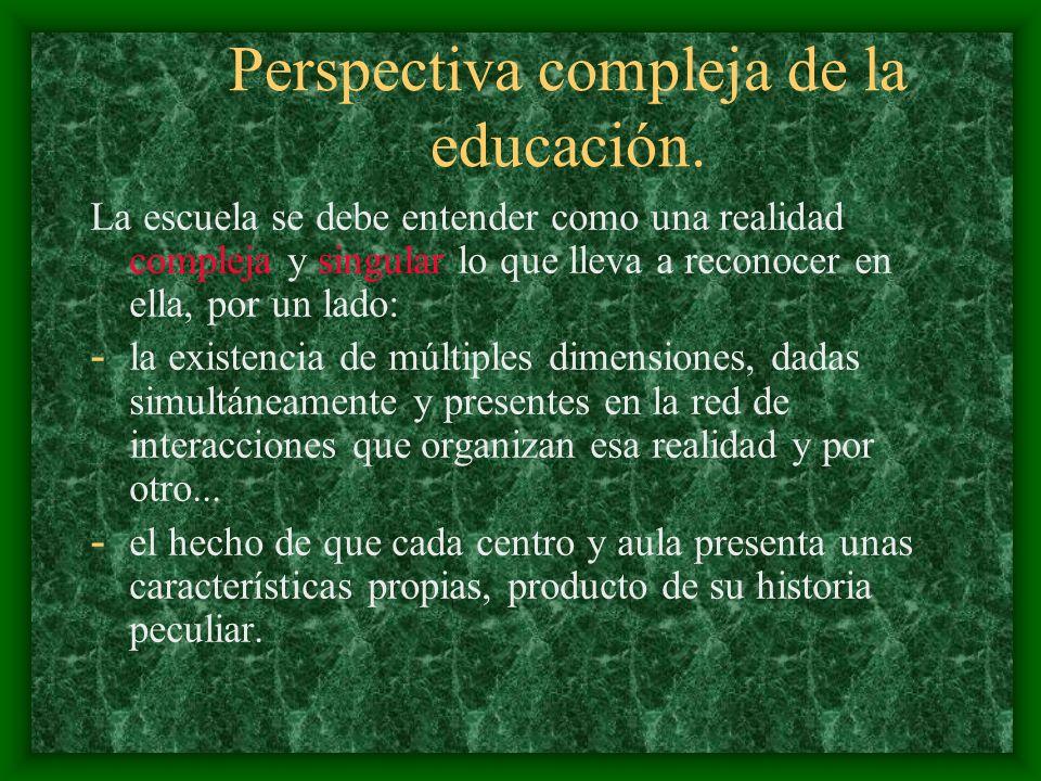 Perspectiva compleja de la educación.