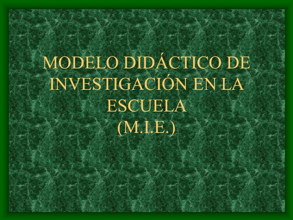 MODELO DIDÁCTICO DE INVESTIGACIÓN EN LA ESCUELA (M.I.E.)