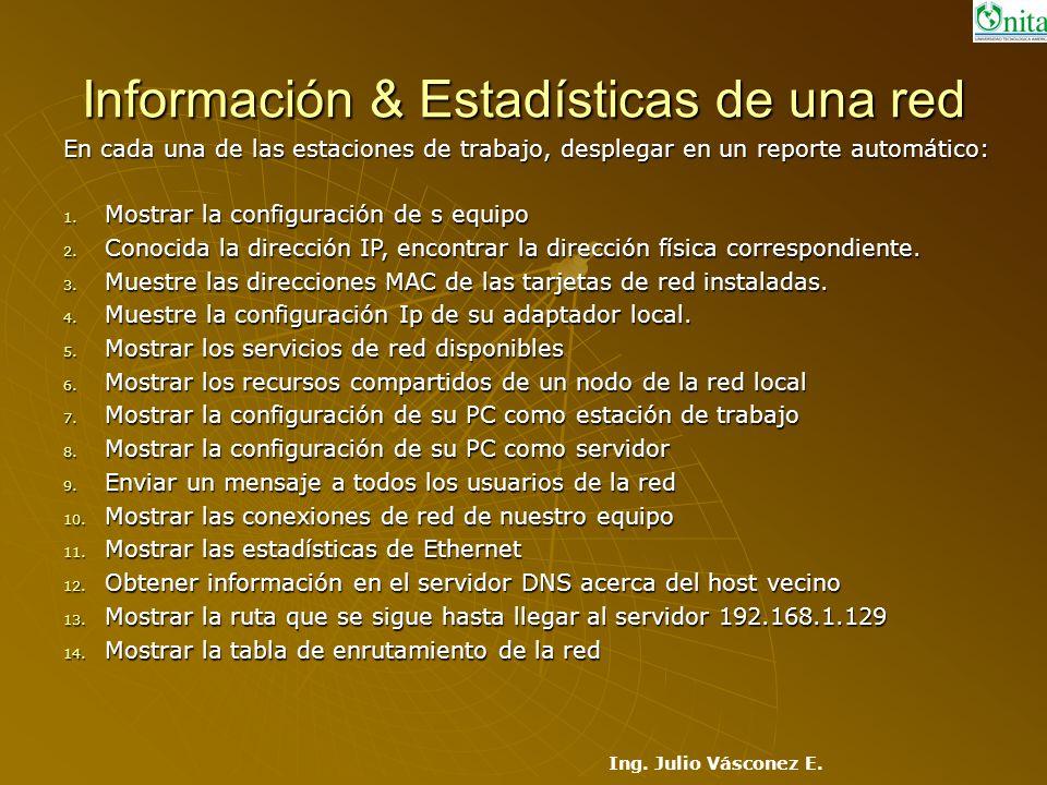 Información & Estadísticas de una red