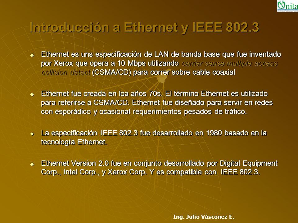 Introducción a Ethernet y IEEE 802.3