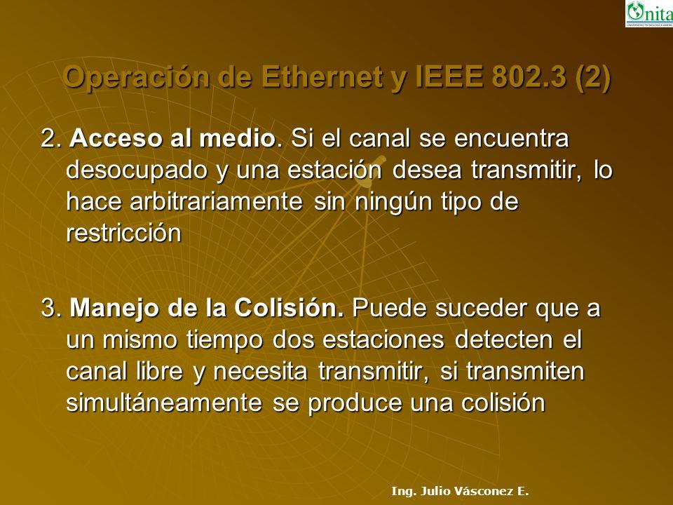 Operación de Ethernet y IEEE 802.3 (2)