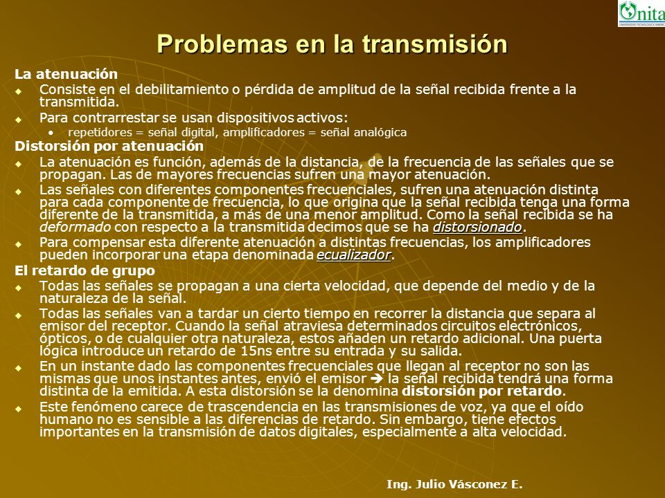 Problemas en la transmisión