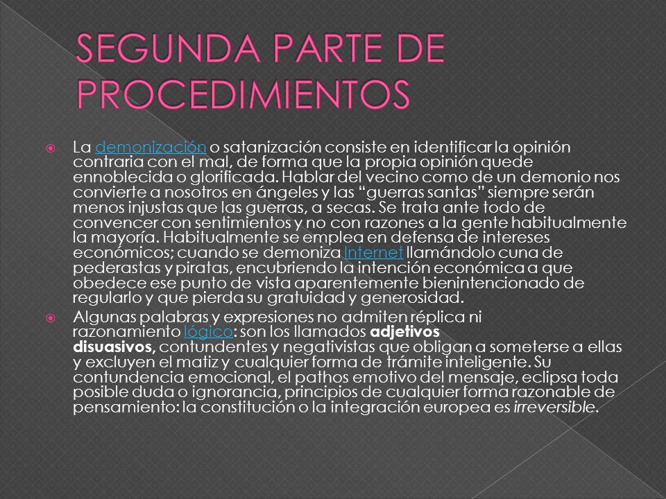 SEGUNDA PARTE DE PROCEDIMIENTOS