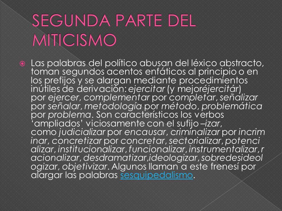 SEGUNDA PARTE DEL MITICISMO