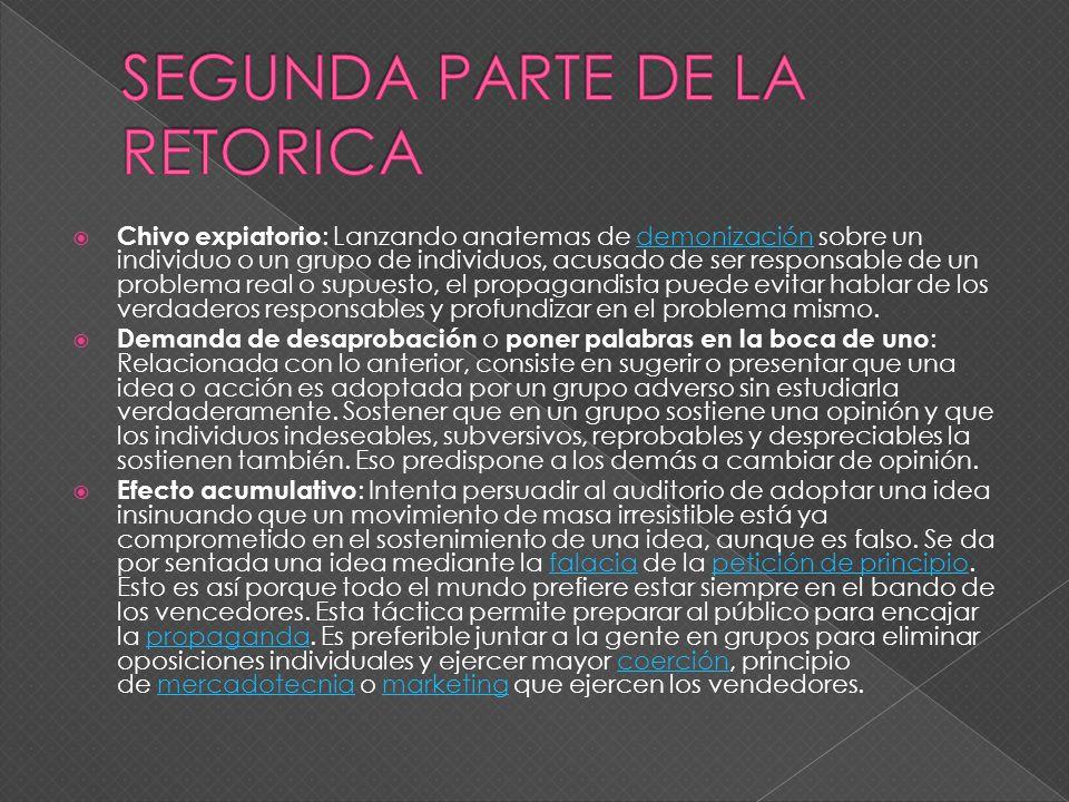 SEGUNDA PARTE DE LA RETORICA